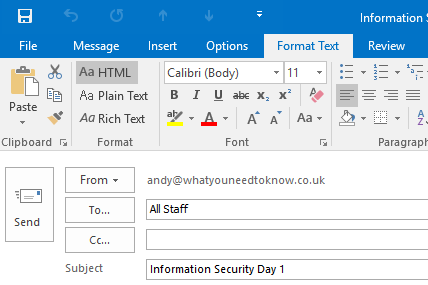 outlook as html