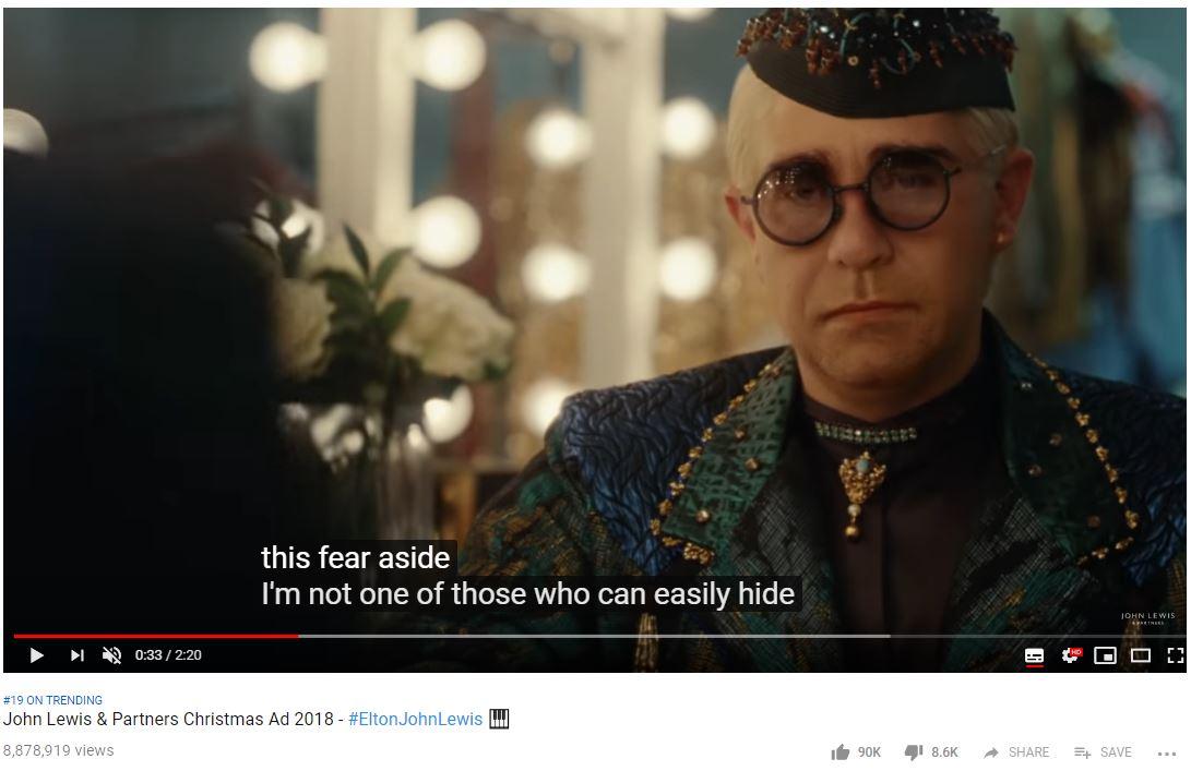 Elton John JLP ad
