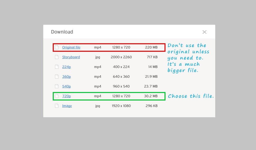 download types
