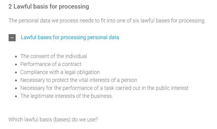 lawful basis checklist