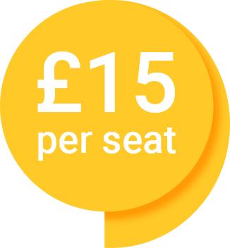 £15 per seat