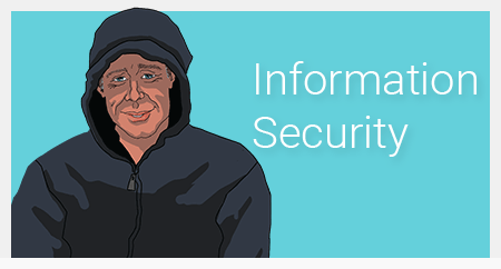 hooded man with title information security